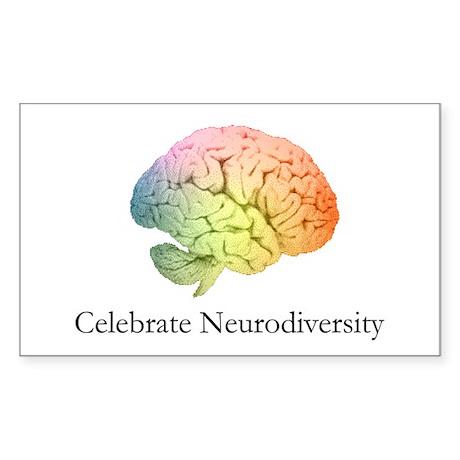 Celebrate Neurodiversity Sticker (Rectangle)