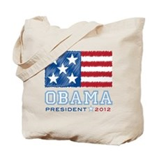 Obama Stars & Stripes Tote Bag