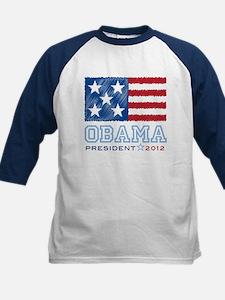 Obama Stars & Stripes Kids Baseball Jersey