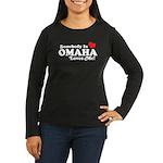 Somebody In Omaha Loves Me Women's Long Sleeve Dar