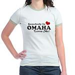 Somebody In Omaha Loves Me Jr. Ringer T-Shirt