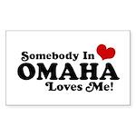 Somebody In Omaha Loves Me Sticker (Rectangle)