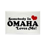 Somebody In Omaha Loves Me Rectangle Magnet
