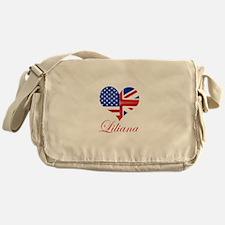 Liliana British American Heart Messenger Bag