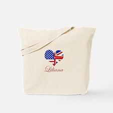 Liliana British American Heart Tote Bag