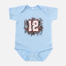 Tom Brady Grunge Skull Infant Bodysuit