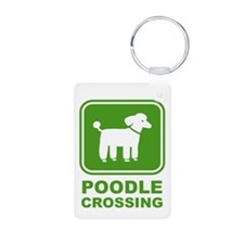 Poodle Graphic Keychains