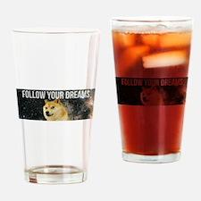 Unique Dog t logo Drinking Glass