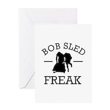 Bobsled Freak Greeting Card