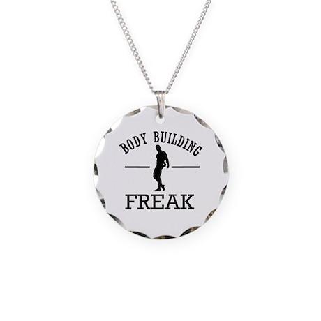 Body Building Freak Necklace Circle Charm