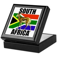 South Africa Springbok Keepsake Box