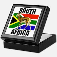 South Africa Springbok Keepsake Box