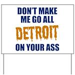 Detroit Baseball Yard Sign
