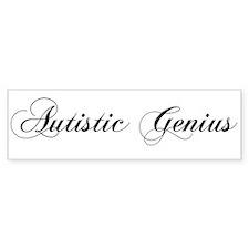 Autistic Genius Bumper Car Sticker