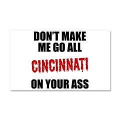 Cincinnati Baseball Car Magnet 20 x 12