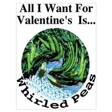 Valentine's Whirled Peas Wall Art Poster
