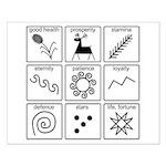 Pysanka Symbols Small Poster