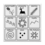 Pysanka Symbols Tile Coaster