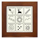 Pysanka Symbols Framed Tile