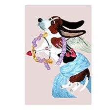 Basset Hound Cupid Postcards (Package of 8)