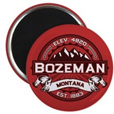 Bozeman Logo Red Magnet