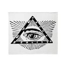Unique Illuminati Throw Blanket