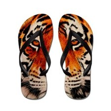 Unique Tigers Flip Flops