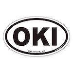 Oak Island OKI Euro Oval Sticker