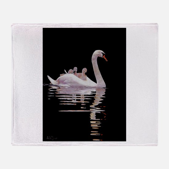 Unique Swans Throw Blanket