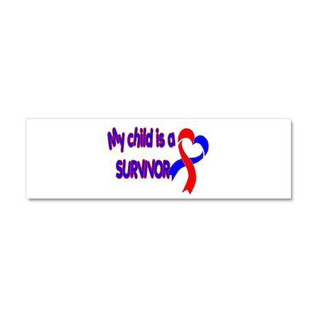 My Child is a CHD Survivor Car Magnet 10 x 3
