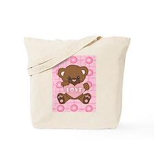 Cute pink valentine teddy Tote Bag
