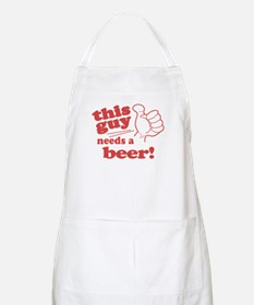 This Guy Needs a Beer Apron