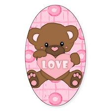 Cute pink valentine teddy Decal