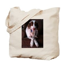 Brittany Spaniel Rescued Tote Bag