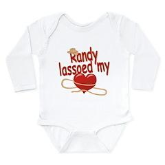 Randy Lassoed My Heart Long Sleeve Infant Bodysuit