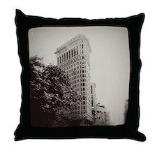 Vintage Flatiron Throw Pillow