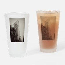 Vintage Flatiron Drinking Glass