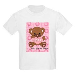 Personalized Cute pink valent T-Shirt