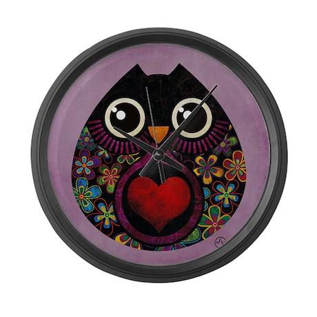 Owl's Hatch Large Wall Clock