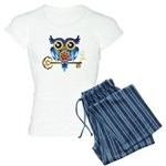 Owl on Skeleton Key Women's Light Pajamas