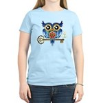 Owl on Skeleton Key Women's Light T-Shirt