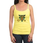 Owl on Skeleton Key Jr. Spaghetti Tank