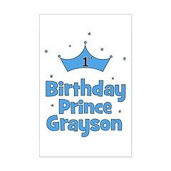1st Birthday Prince GRAYSON! Posters
