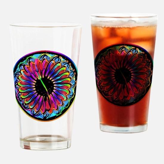 Sumi Style Mandala Drinking Glass