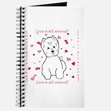 Unique Westie valentine Journal