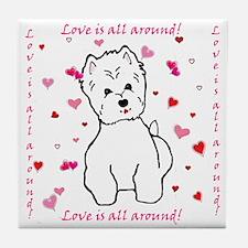 Cute West highland white terrier Tile Coaster