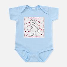 Cute Westie valentine Infant Bodysuit