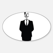 Anonymous Guy Fawkes Suit Decal