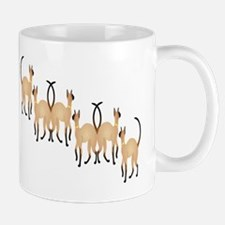 Twin Siamese Cats Chain Mug