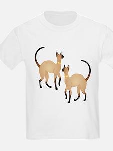 Twin Siamese Cats T-Shirt